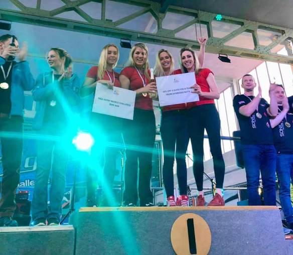 World Challenge podium gold